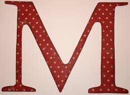 personalized wooden letter