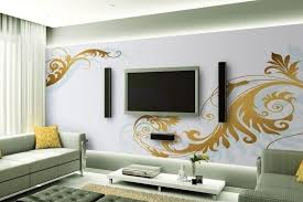 Small Picture this creative wall treatment helps the flat panel television to