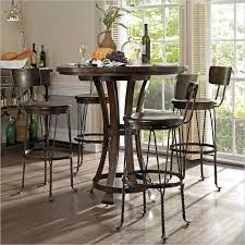image of round bar height pub table