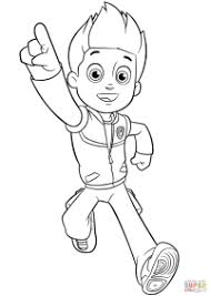 Ryder Paw Patrol Coloring Page Paw Patrol Ryder Coloring Page