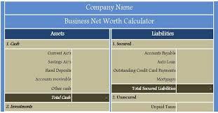 Net Worth Calculator Business Net Worth Calculator News