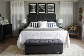 elegant grey and white bedroom