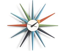 george nelson sunburst clock multicolor  hivemoderncom
