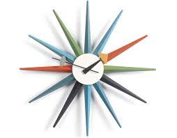 george nelson sunburst clock multicolor