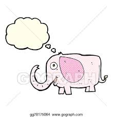 Baby Elephant Drawings Drawings Cartoon Baby Elephant With Thought Bubble Stock