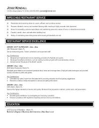 resume sample for restaurant server lead server resume hotwiresite com