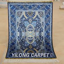 creative home design awesome yilong 2x3 oriental silk carpet dark blue handmade exquisite pertaining to