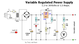 regulated power supply variable variable powersupply