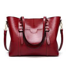 women s shoulder bag high capacity oily soft leather tote sling bag