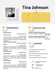 006 Two Column Resume Template Marvelous Ideas Free Word Download