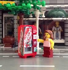 Lego Soda Vending Machine Cool LEGO CUSTOM COCA Cola Soda Vending Machine Made From Lego Bricks