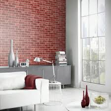 Red Wallpaper Designs For Living Room Red Brick Effect Wallpaper Suitable For Any Room Feature Wall New