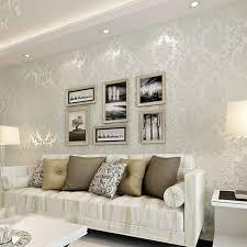 10m victorian damask luxury embossed wallpaper roll white beige cream design for