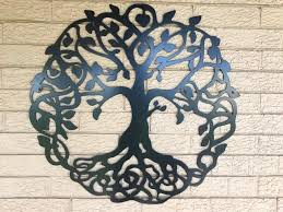 tree of life metal art black  on wall art metal tree of life with tree of life metal wall art sign cascade manufacturing