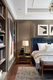 Masculine Bedroom With Abstract Artwork