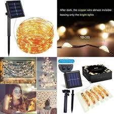 100 led solar decoration lights string strip light garden party wedding lamp new