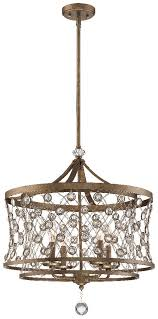 metropolitan lighting n6583 272 castle aurora 4 light chandelier arcadian gold