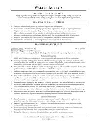 Free Sample Resume For Warehouse Worker Summary Of Qualifications