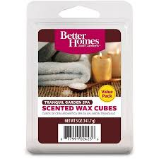 better homes and gardens scented wax cubes. Interesting Gardens Better Homes U0026 Gardens 5 Oz Tranquil Garden Spa Value Scented Wax Melts And Cubes