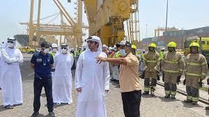 مكتوم بن محمد يتفقد ميناء جبل علي - صحيفة الاتحاد