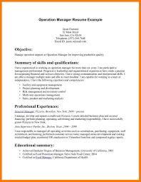 Management Summary Example Fresh Portray Sample Resume Professional