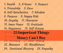 important things money can t buy
