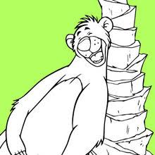 the jungle book original printables the jungle book baloo coloring page