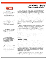 Call Center Customer Communication Skills