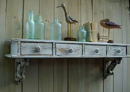I Want This Shabby Chic Wall Shelf Drawers French Country By Country Style Shelves