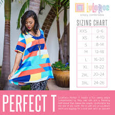 Xl Irma Size Chart 37 Rational Lularoe Perfect T Sizing Chart
