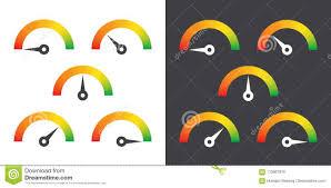 Meter Sign Infographic Gauge Element Vector Illustration