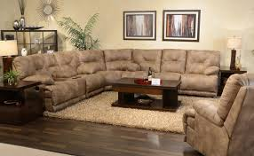 Two Piece Living Room Set Excellent Sectional Sleeper Sofa With Recliners 69 In Two Piece