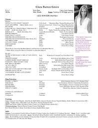Theatre Resume Templates Adorable Theatre Resume Template JmckellCom