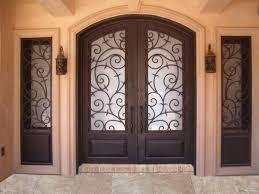 Front Doors  Cool Wrought Iron Front Door  Wrought Iron Front - Iron exterior door