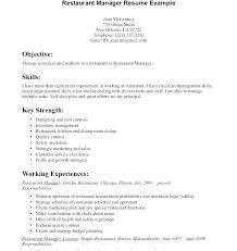 Restaurant Responsibilities Resume Singlebutton Co
