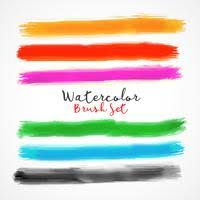 free watercolor brushes illustrator watercolor brush strokes free vector art 4441 free downloads