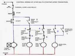 unique star delta starter wiring diagram star delta starter motor image free