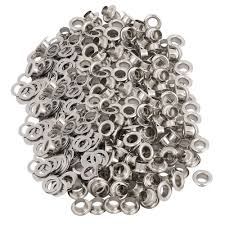 1000pcs <b>5mm</b> Iron Eyelet Grommets Silver Tone w Washers for ...