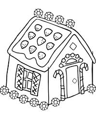 Gingerbread Coloring Sheet Free Ascenseurinfo