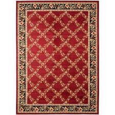 lyndhurst red black 7 ft x 10 ft area rug