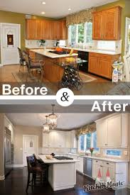 This kitchen is transformed from 1980s to state-of-the-art. Frosty white  cabinets in Madison style are enhanced with a coffee glaze that adds  dimension for ...