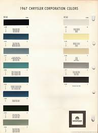 The 1970 Hamtramck Registry 1967 Paint Chip Charts Slideshow