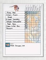 Chore Lists For Teens Hand Picked Weekly Chore Chart For Teenagers Free Printable