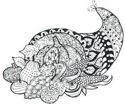 Coloring Line Drawings Cornucopia Coloring Page Fee More Pages