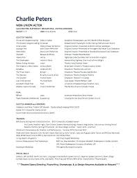 To Resumes Resume For A Beginner Actors Resumes Examples Free Acting Resumes
