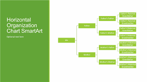 powerpoint family tree template family tree chart horizontal green white widescreen office