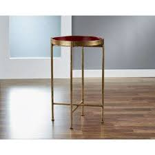 small gild pop up red tray table