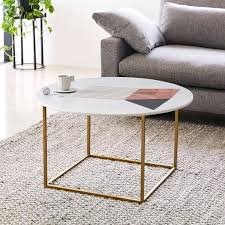 marble coffee table sydney graphic inlay round white west elm c
