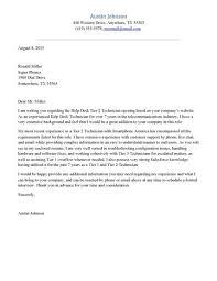 Help Desk Cover Letter