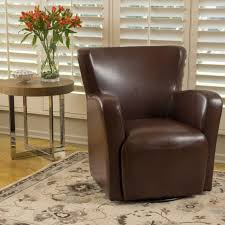 Living Room Club Chairs Angelo Bonded Leather Wingback Swivel Club Chair By Christopher